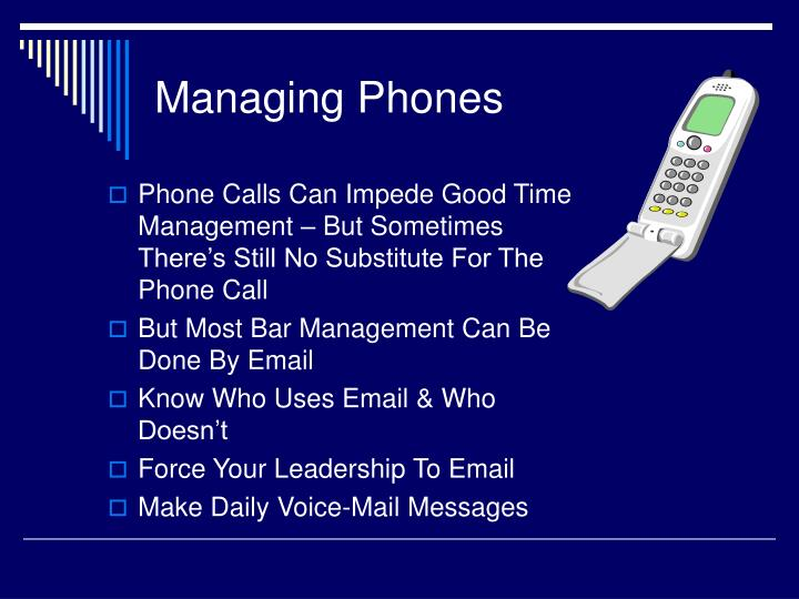 Managing Phones