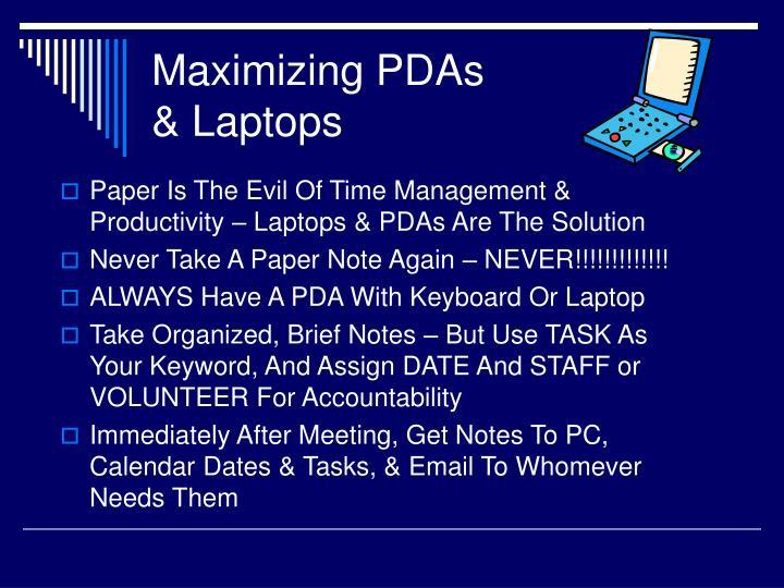 Maximizing PDAs