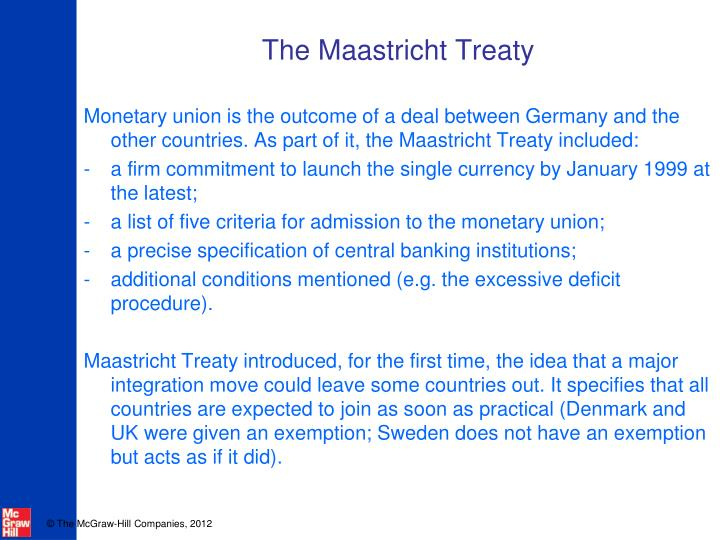 The maastricht treaty