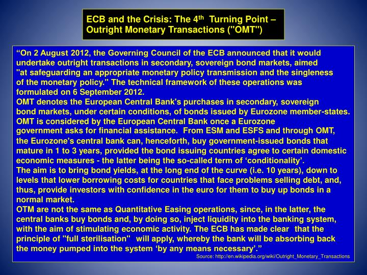 ECB and the Crisis: The 4
