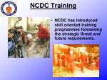 ncdc training