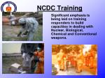 ncdc training1