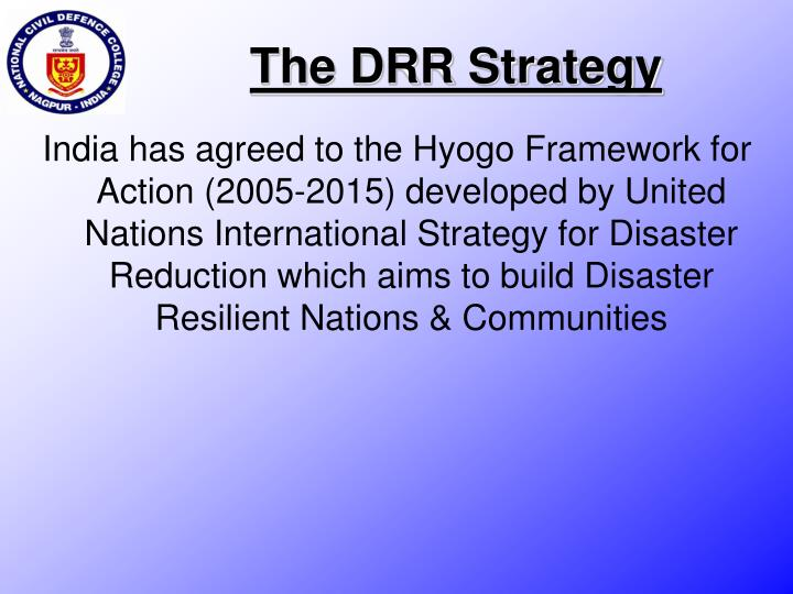 The DRR Strategy