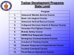 trainer development programs state level