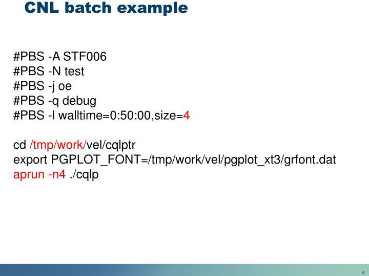 CNL batch example