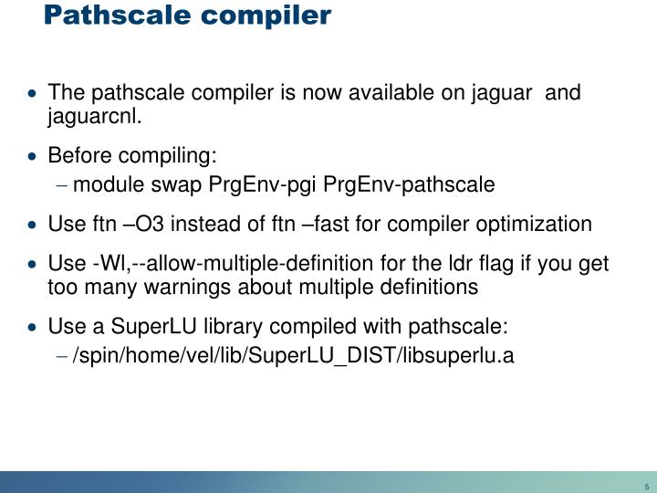 Pathscale compiler