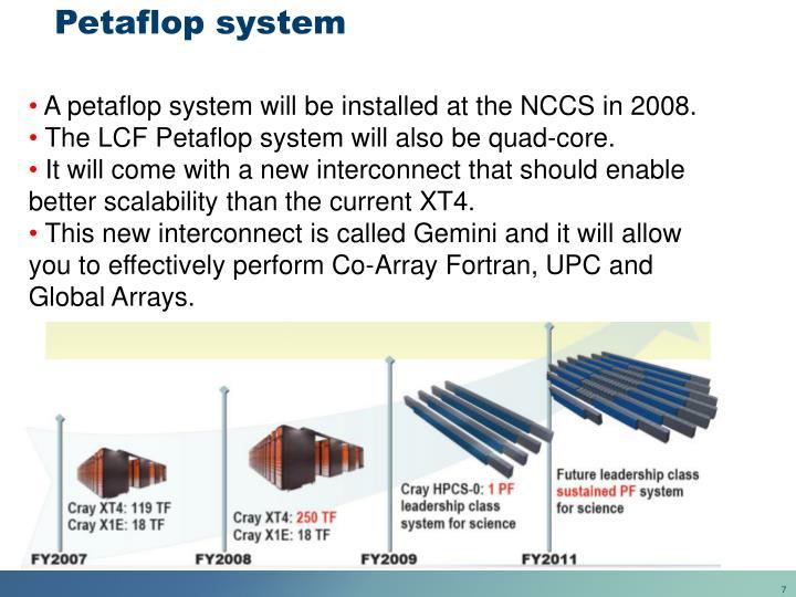 Petaflop system