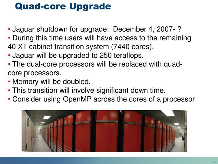 Quad-core Upgrade