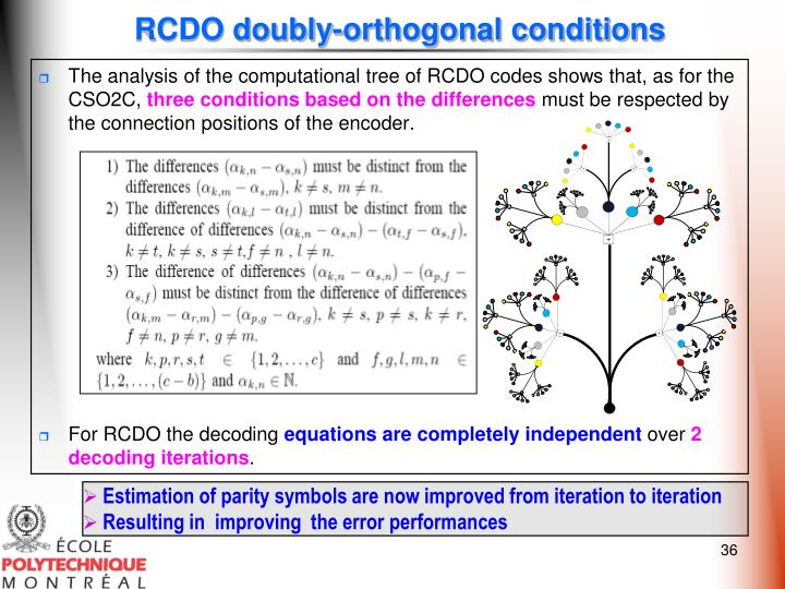RCDO doubly-orthogonal conditions