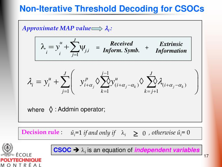 Non-Iterative Threshold Decoding for