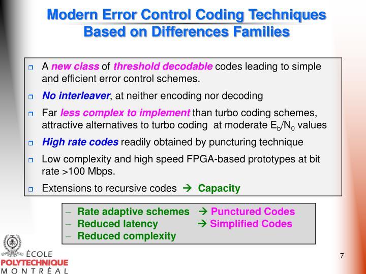 Modern Error Control Coding Techniques