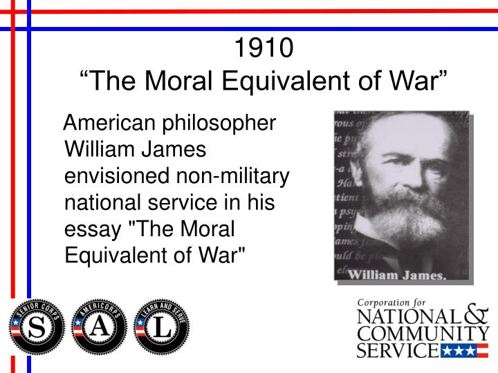 1910 the moral equivalent of war