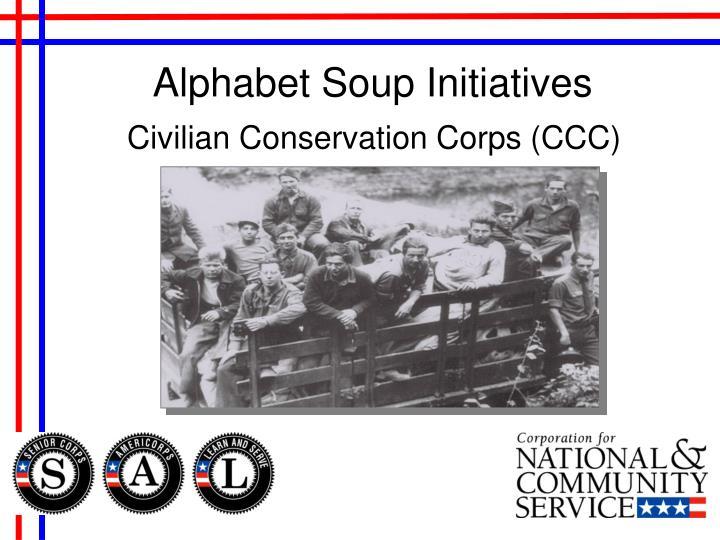 Alphabet Soup Initiatives