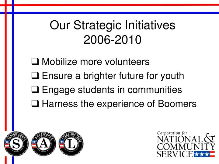 Our Strategic Initiatives