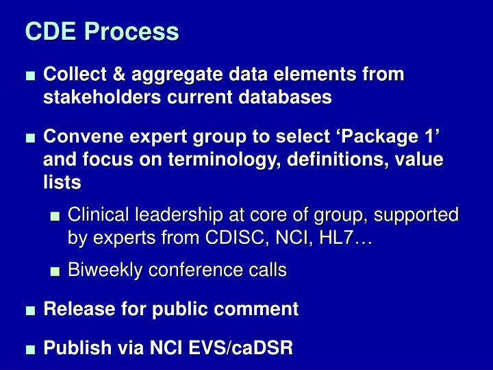 CDE Process
