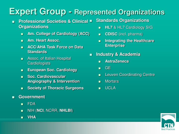 Professional Societies & Clinical Organizations