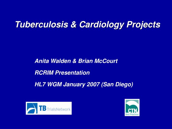 Tuberculosis cardiology projects