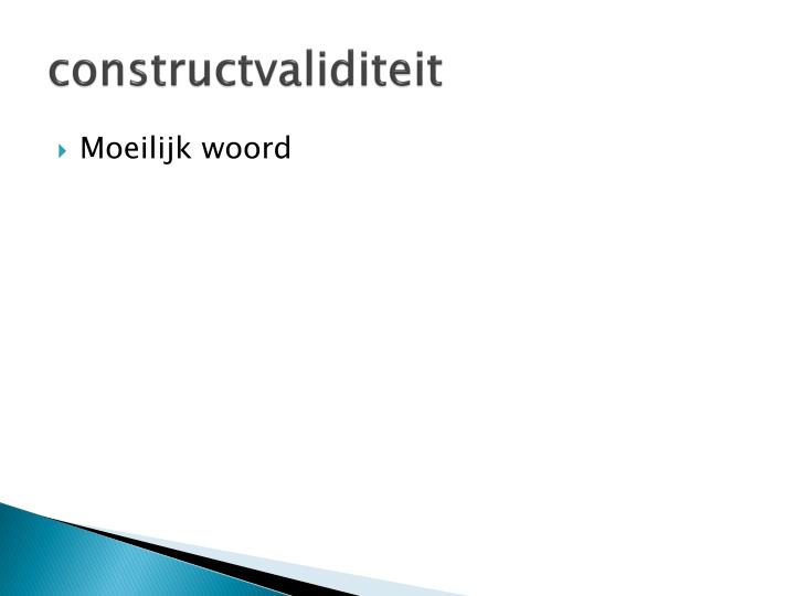constructvaliditeit