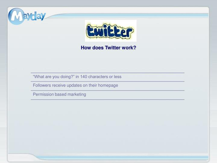 How does Twitter work?