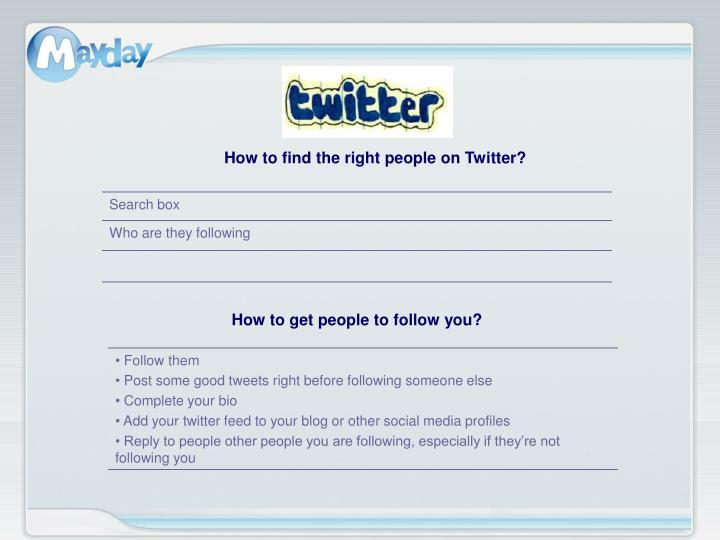 How to find the right people on Twitter?