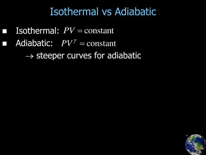 Isothermal vs Adiabatic