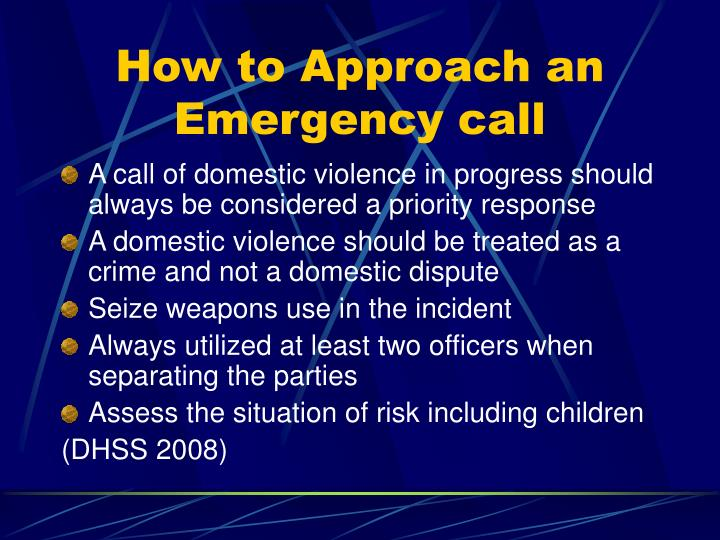 How to approach an emergency call