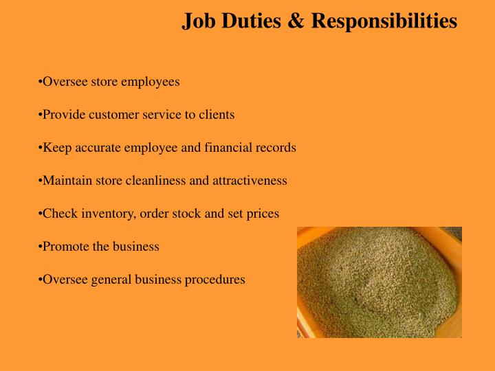 Job Duties & Responsibilities
