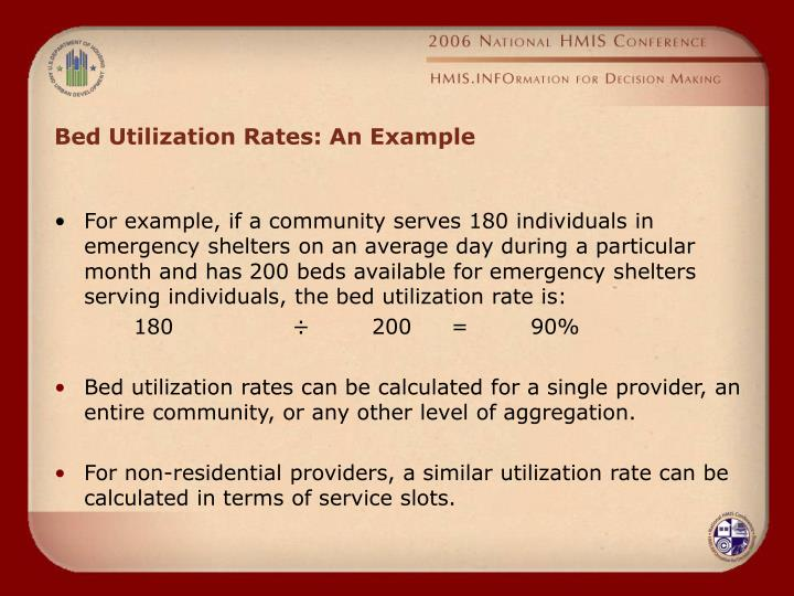 Bed Utilization Rates: An Example
