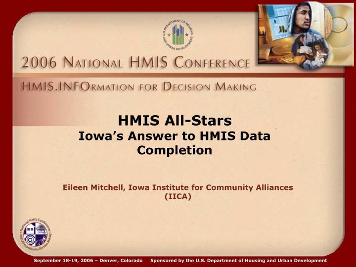 HMIS All-Stars