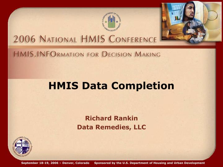 HMIS Data Completion