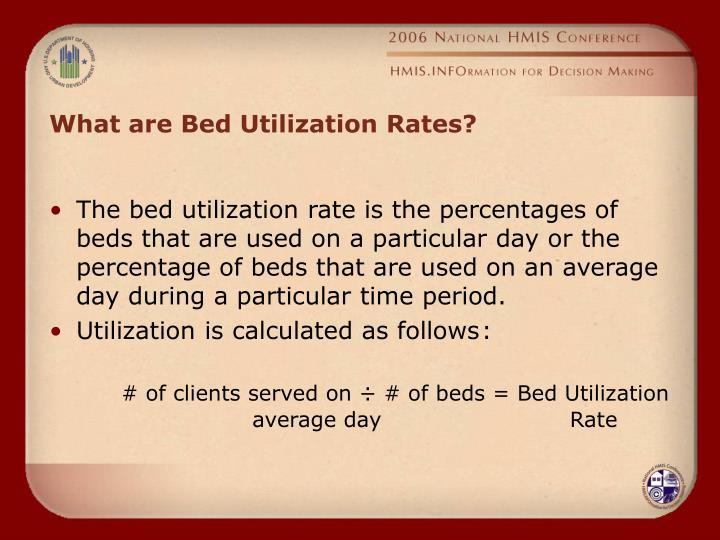 What are Bed Utilization Rates?