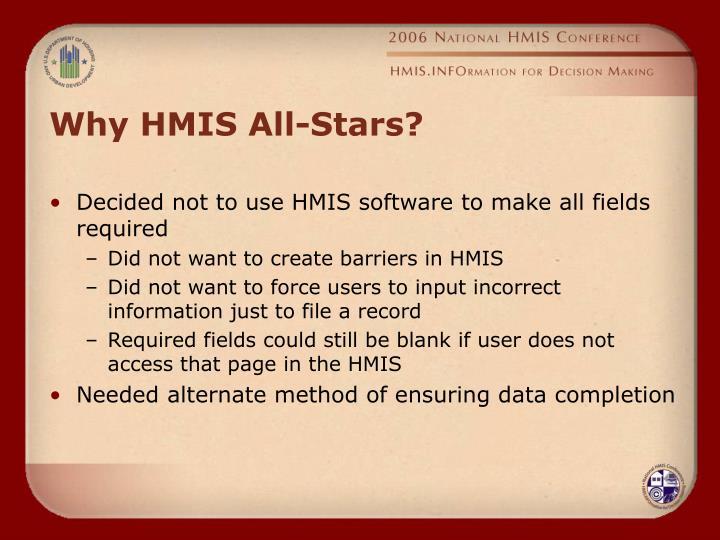 Why HMIS All-Stars?