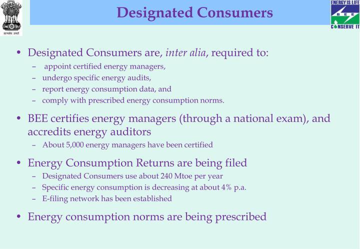 Designated Consumers