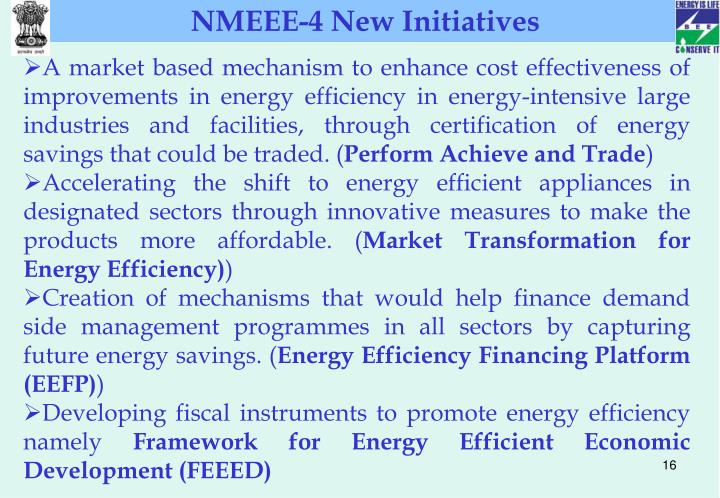 NMEEE-4 New Initiatives