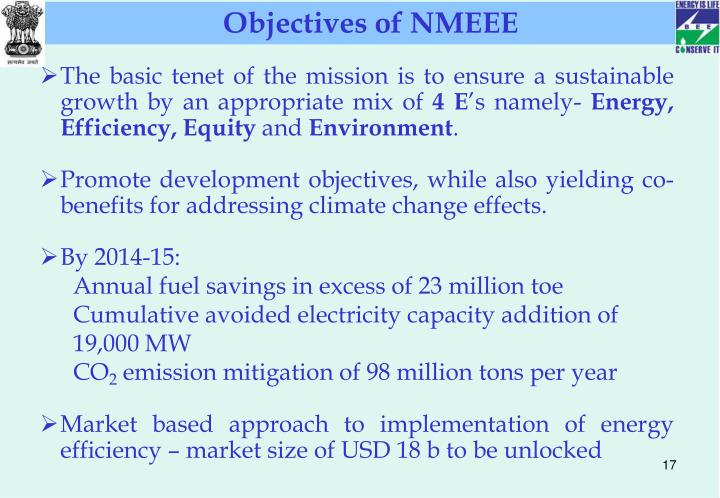 Objectives of NMEEE