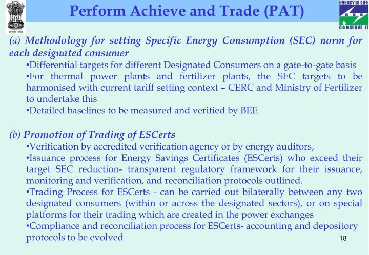 Perform Achieve and Trade (PAT)
