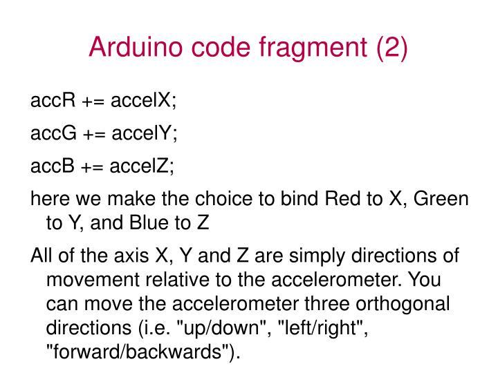Arduino code fragment (2)