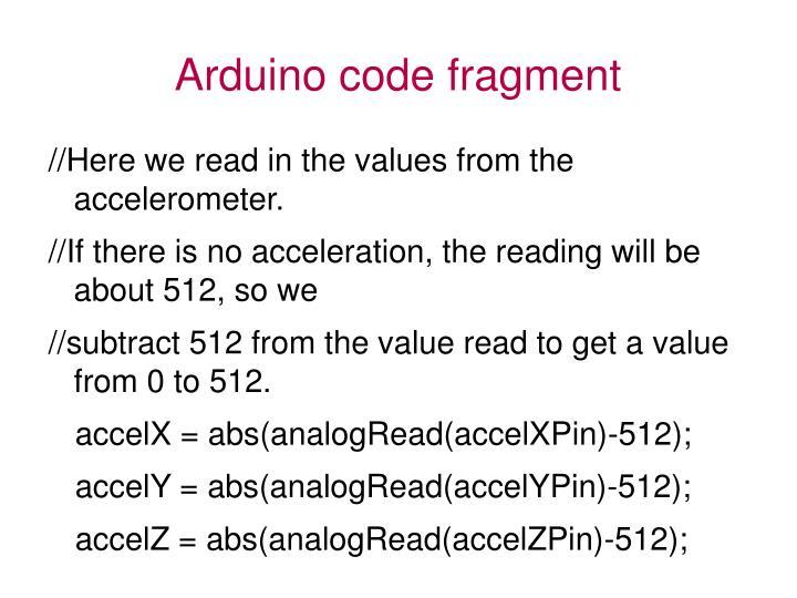 Arduino code fragment