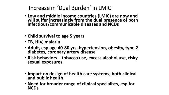 Increase in 'Dual Burden' in LMIC