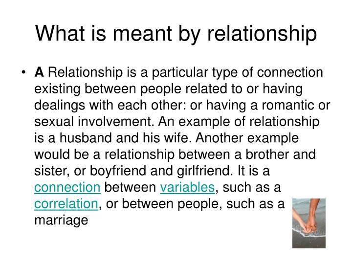 What is meant by relationship