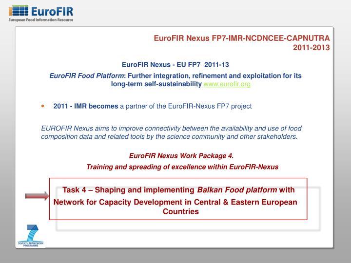 EuroFIR Nexus FP7