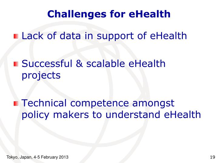 Challenges for eHealth