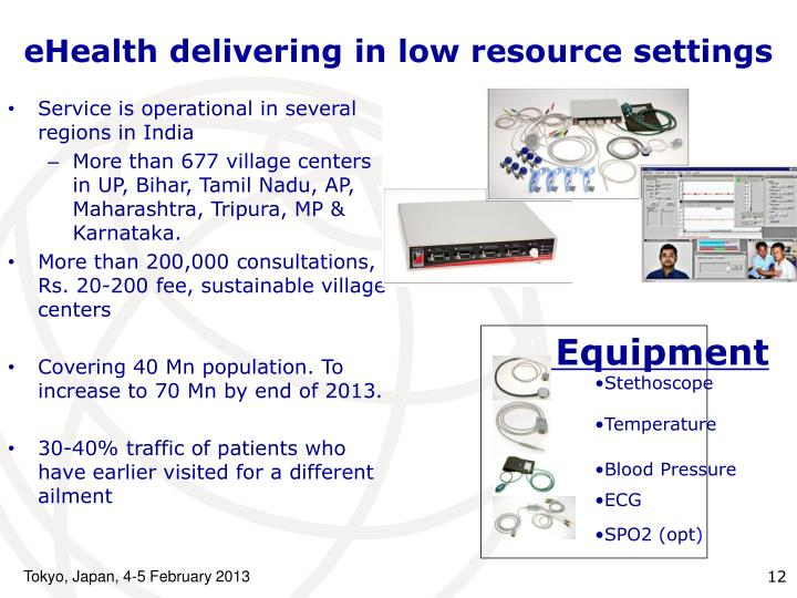eHealth delivering in low resource settings