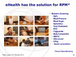 ehealth has the solution for rpm