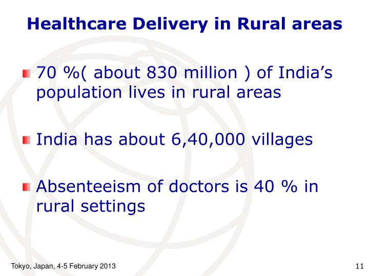Healthcare Delivery in Rural areas