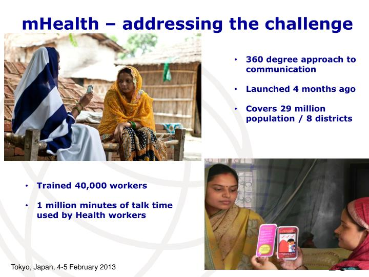 mHealth – addressing the challenge