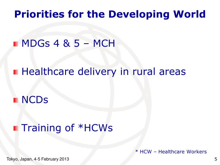 Priorities for the Developing World