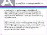 unique emergency accommodations
