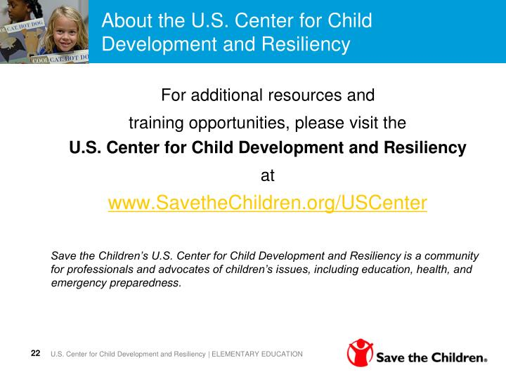 About the U.S. Center for Child Development and Resiliency