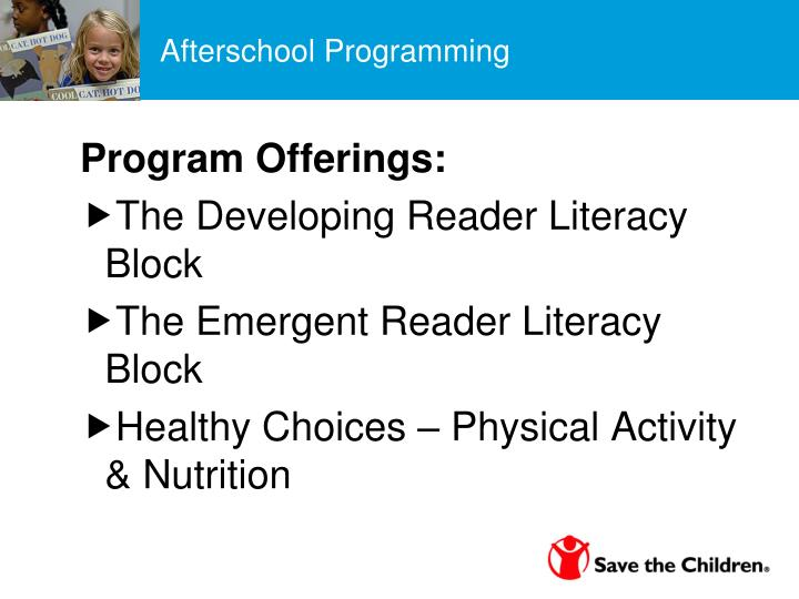 Afterschool Programming